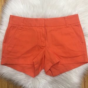 J. CREW Bright Orange Chino Women's Shorts ((R12))